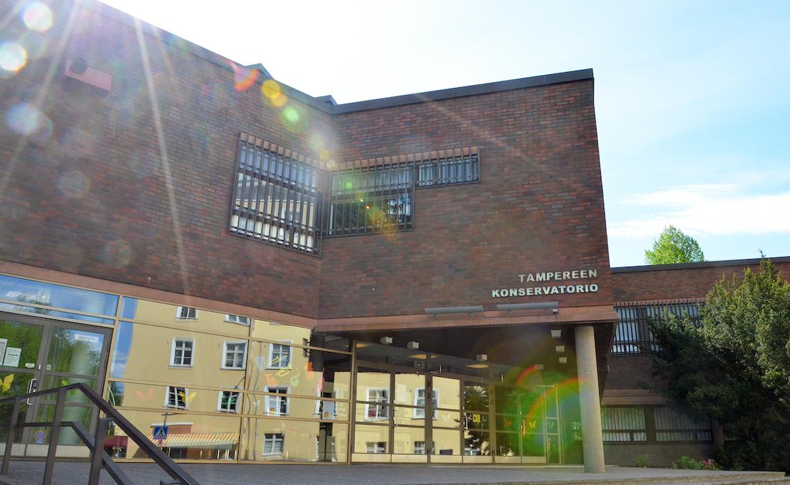 Tampereen konservatorion rakennuksen julkisivu